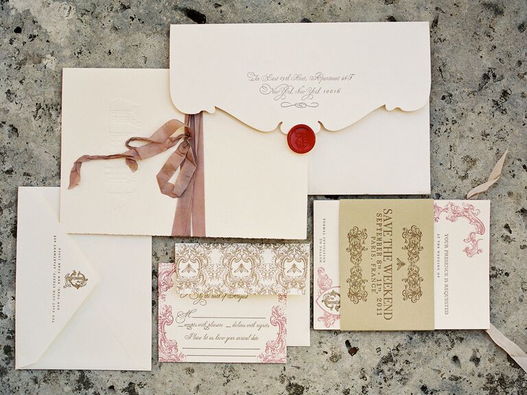 Ways To Save On Wedding Invitations: Wedding Invitations: Pretty Ways To Embellish Your Invitations
