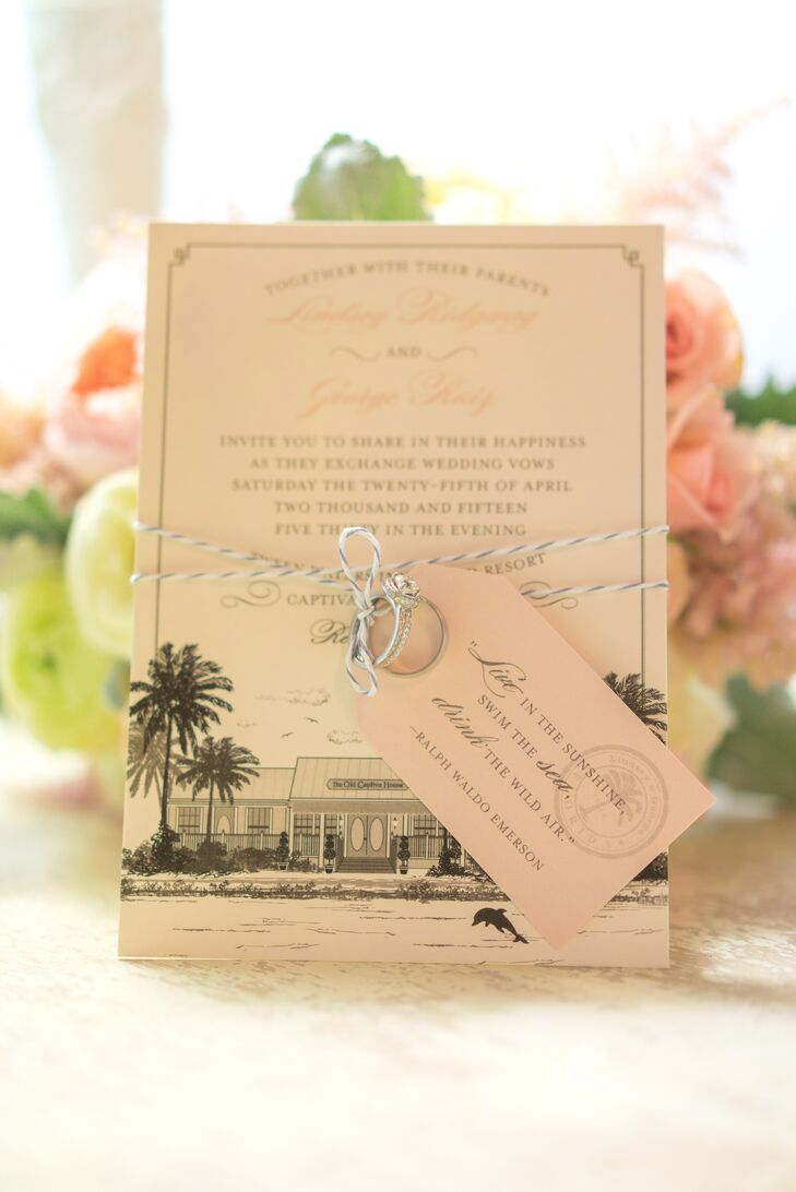 Neutral Captiva Island-Inspired Invitation