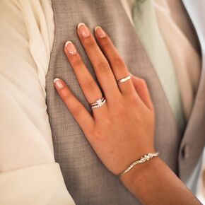 Wedding nails silver wedding rings and bracelet junglespirit Image collections