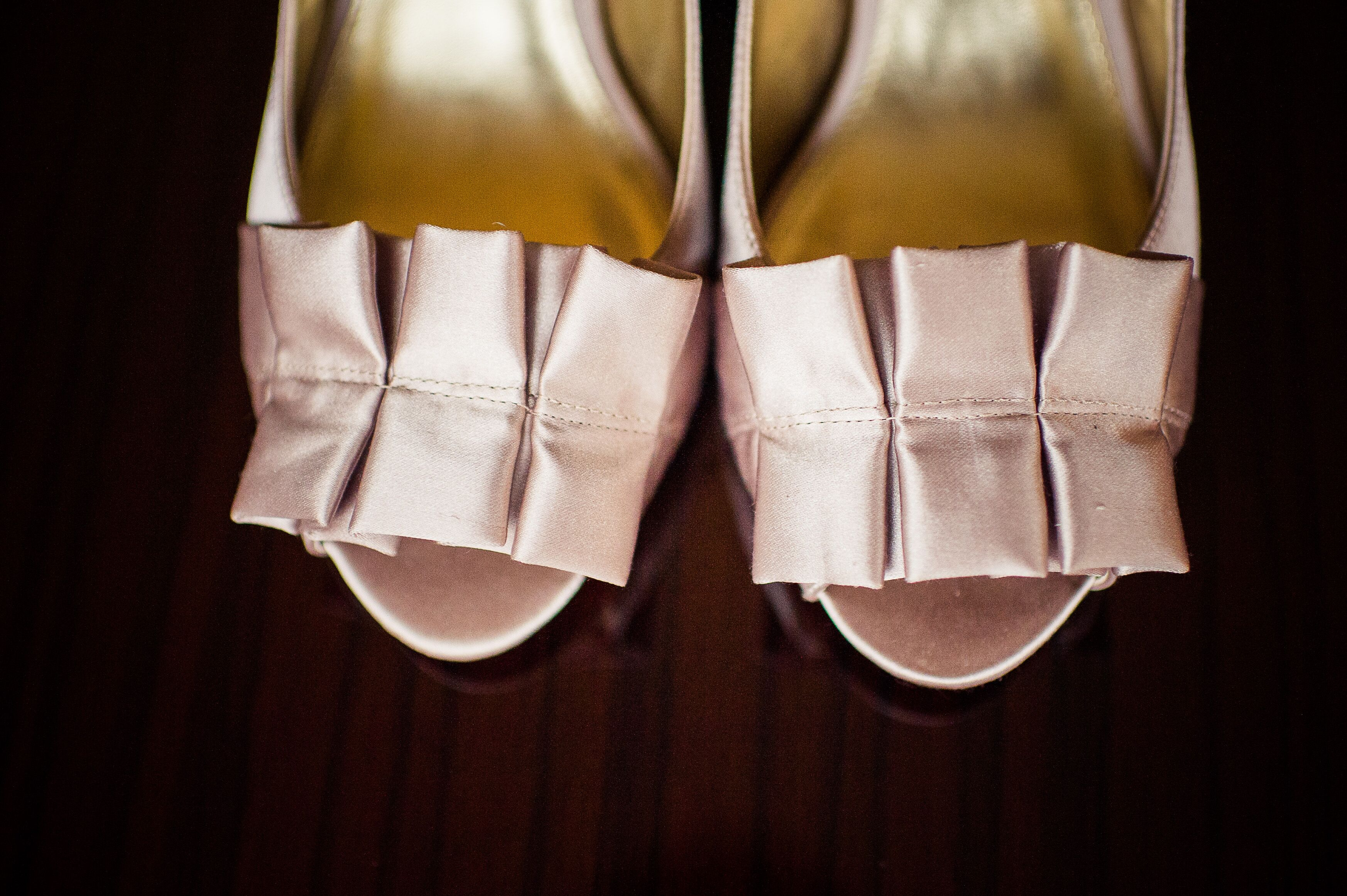 Blush satin nina bridal shoes for 101 salon west bloomfield