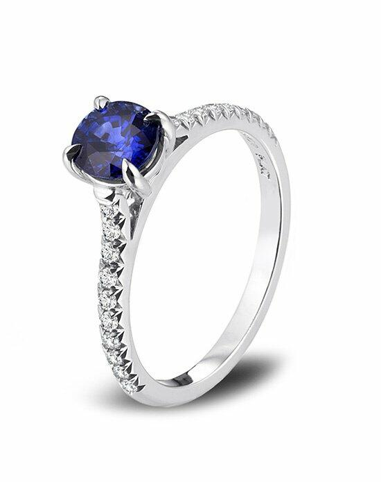 Platinum Engagement and Wedding Ring Must-Haves Fusaro Sapphire and Platinum Ring Engagement Ring photo