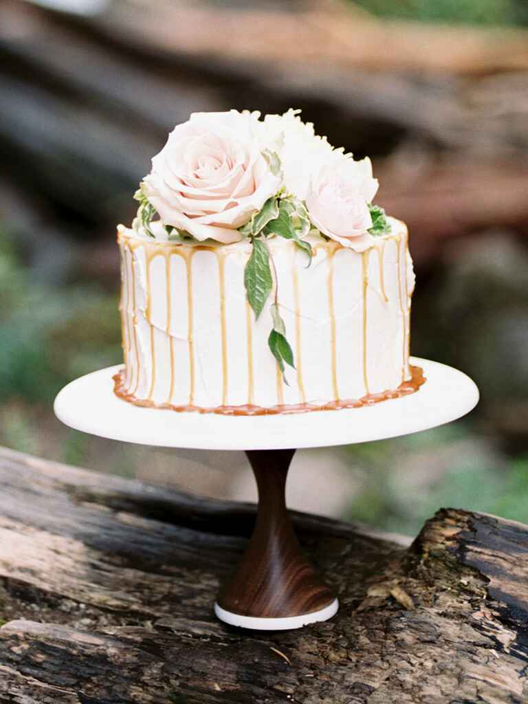 one layer wedding cake pics single tier wedding cakes 18016