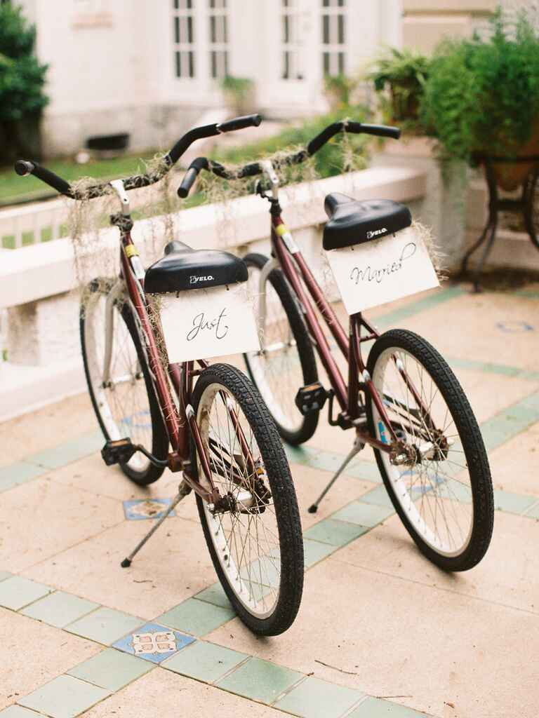 Mini moon honeymoon biking idea