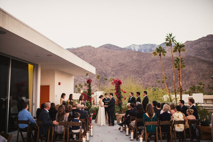 The Had Their Wedding Ceremony Outside On Terrace At Ace Hotel And Swim Club