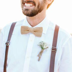 Burlap Bow Tie And Suspenders