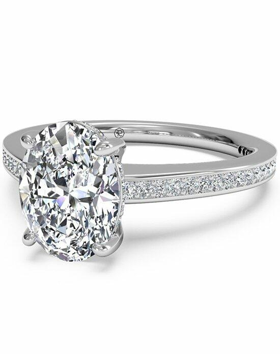 Ritani Oval Cut Diamond Micropave Band Engagement Ring in 18kt White Gold (0.20 CTW) Engagement Ring photo