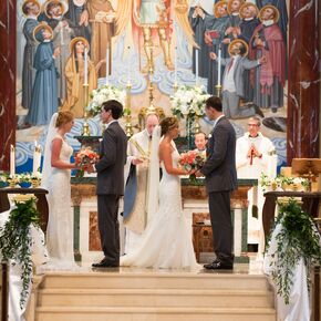 Traditional Church Double Ceremony