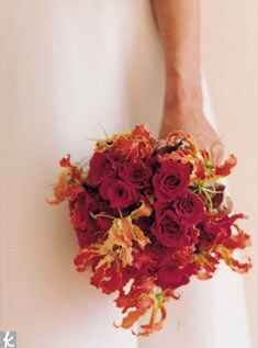 Gloriosa lily bridal bouquet