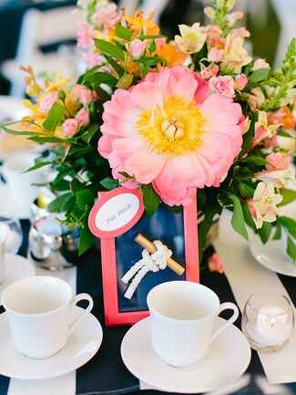 Nautical table numbers with a sailor's knot