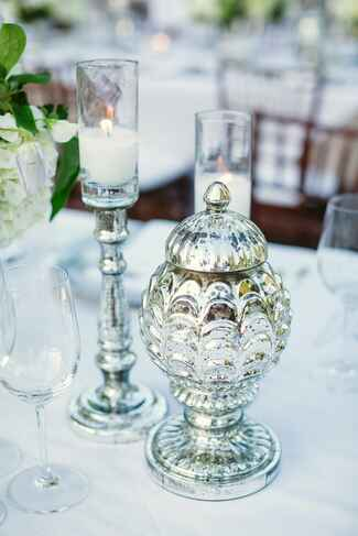 Silver mercury candle votives