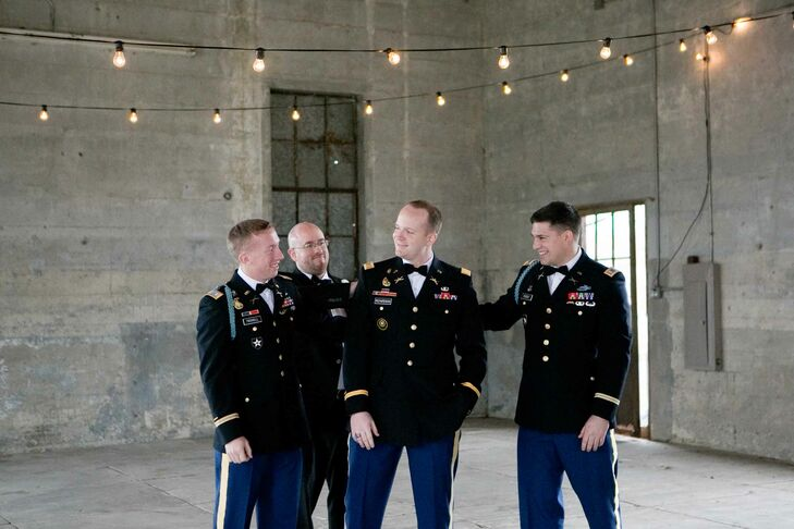 Groomsmen in Army Uniforms