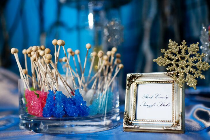 Guests took home colorful sweets like rock candy.