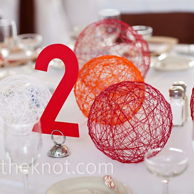 Red Wedding Ideas On A Budget: Non-Floral Red Centerpieces