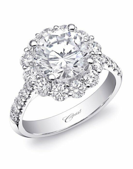 Coast Diamond Round Halo Engagement Ring-LZ0245 Engagement Ring photo