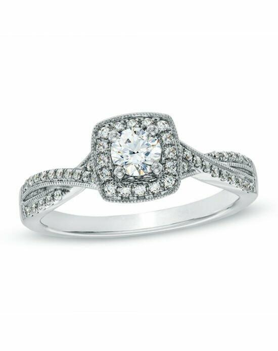 Celebration Diamond Collection at Zales Celebration Fire® 1/2 CT. T.W. Diamond Vintage-Style Twist Engagement Ring in 14K White Gold (H-I/SI1-SI2)  19726322 Engagement Ring photo