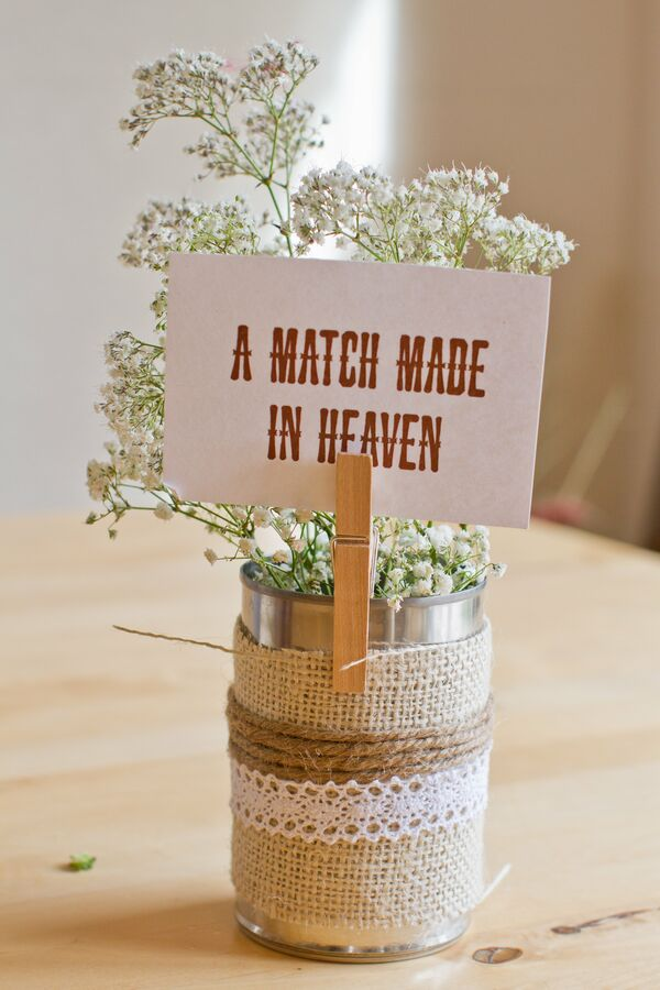 Rustic Baby's Breath Centerpieces