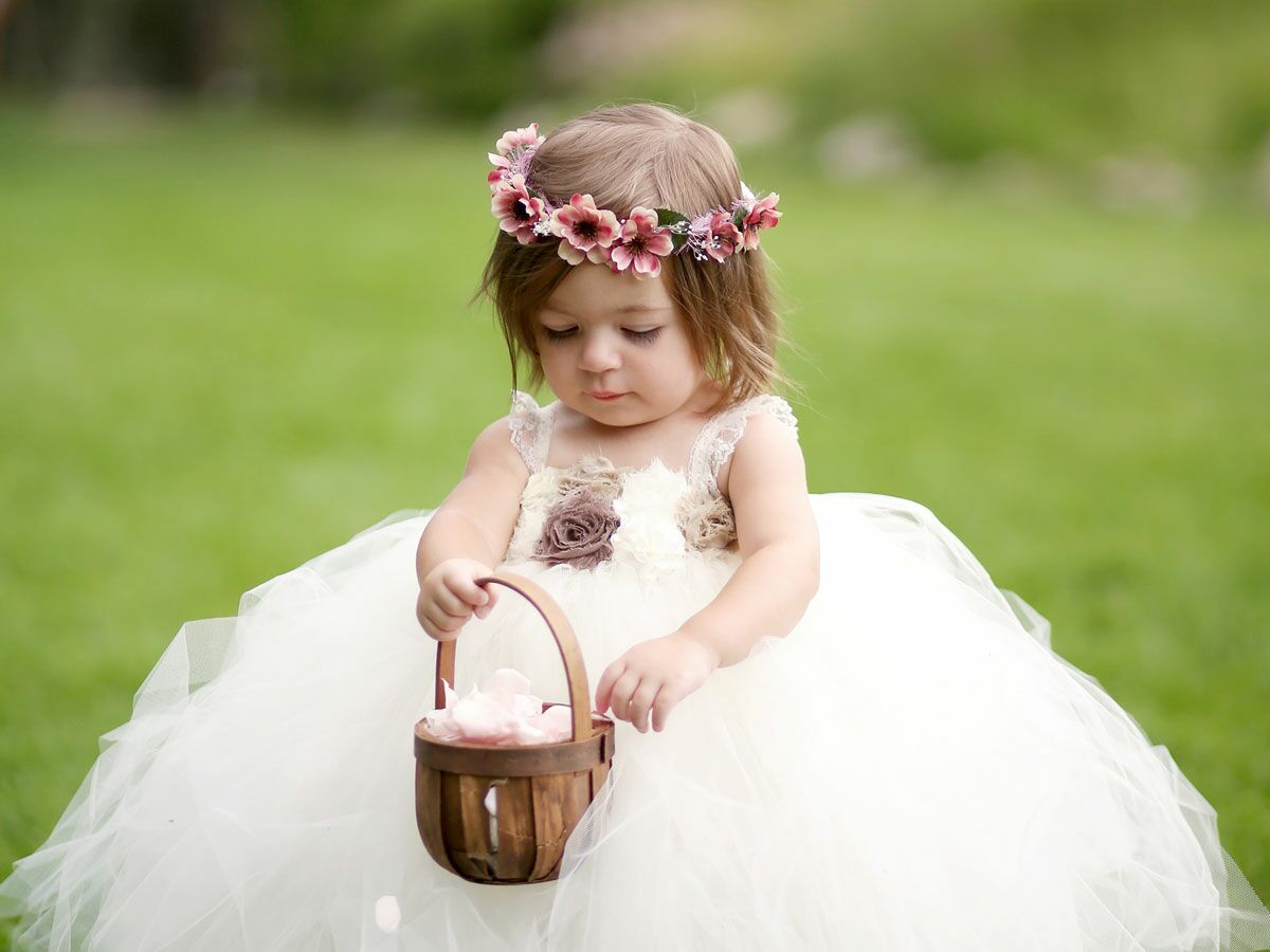 a12443219c4 Flower Crown Wedding Hairstyles for Brides and Flower Girls