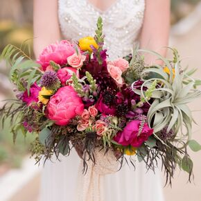 Natural Pink And Crimson Bouquet
