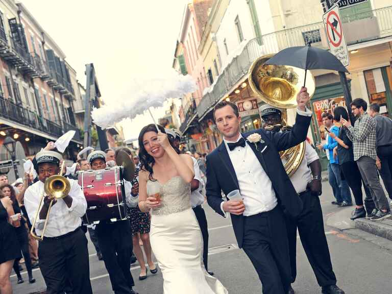 Marching band wedding processional