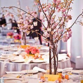 cherry blossom wedding centerpieces