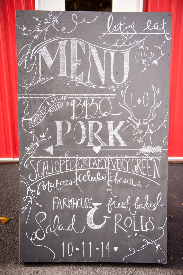 DIY Calligraphy Menu Sign