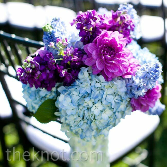 Purple and blue floral arrangements for Pink and blue flower arrangements
