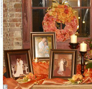 Orange Candle Centerpieces
