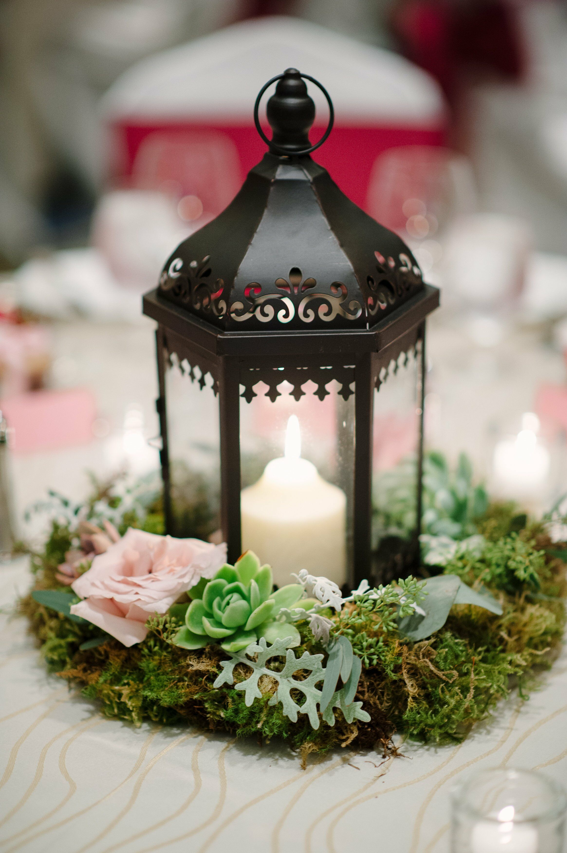 Low Lantern Centerpieces
