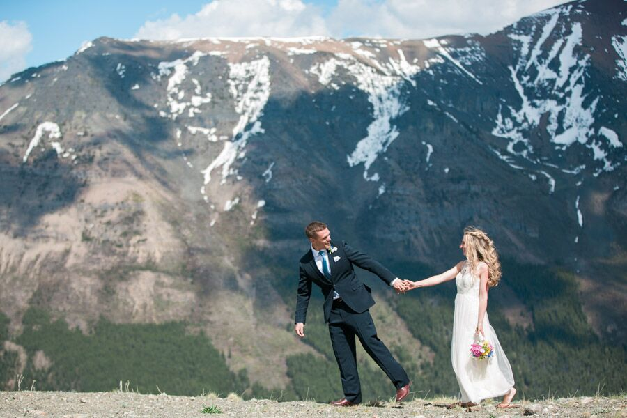 An Intimate, Natural Wedding At Castle Mountain In Pincher