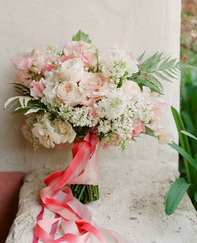 Blush pink woodland bouquet by Flowerwild | Jose Villa | blog.theknot.com