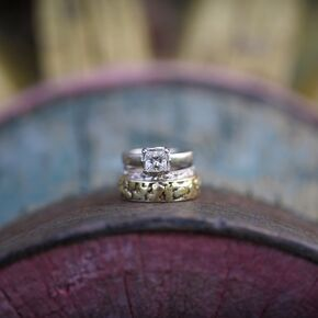 princess cut diamond engagement ring - Rustic Wedding Rings