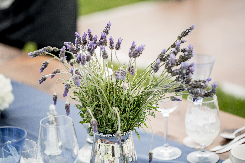 Rustic Lavender Centerpieces