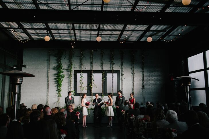 """Brooklyn was where we met, shared a few dates and first exchanged 'I love you's,' "" Allison says of choosing 501 Union for both their ceremony and reception. ""It felt like the appropriate backdrop for our wedding since it was where our relationship started."""
