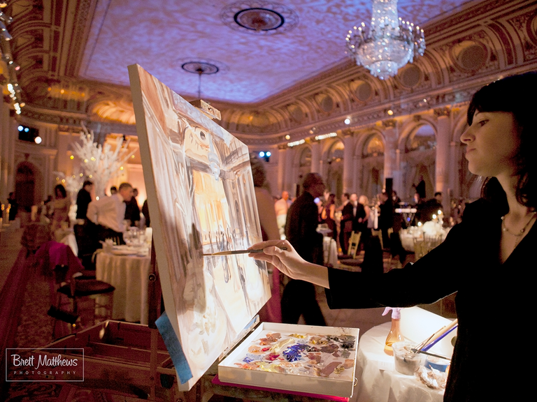 Live Painting Is the New Wedding Reception Trend You're ...