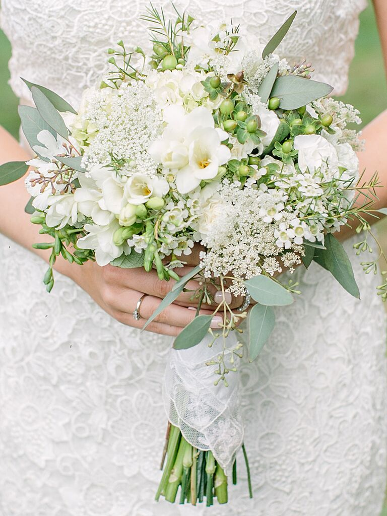 White Wildflower Wedding Bouquet