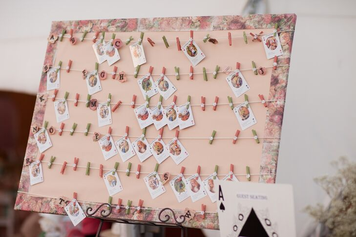 Wonderland Playing Card Escort Cards