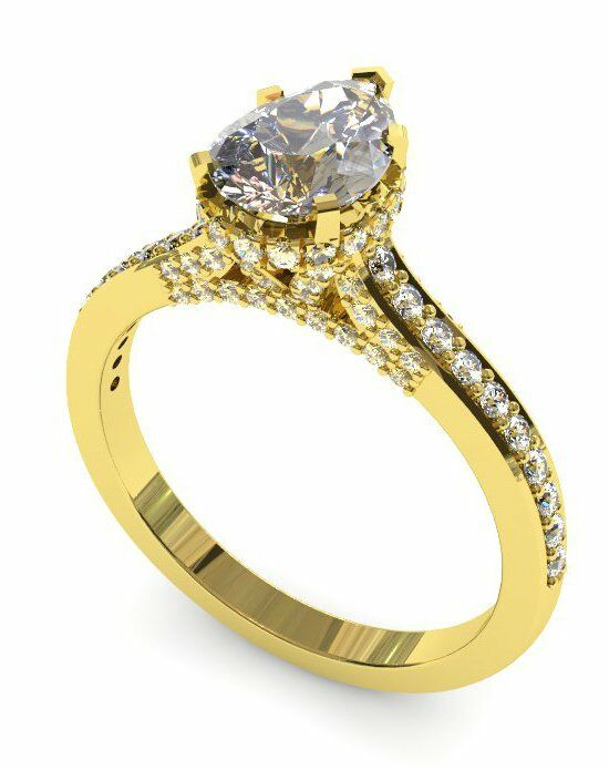 Enchanted Diamonds Pear Pave with Side Halo CH3-4Y-P Engagement Ring photo