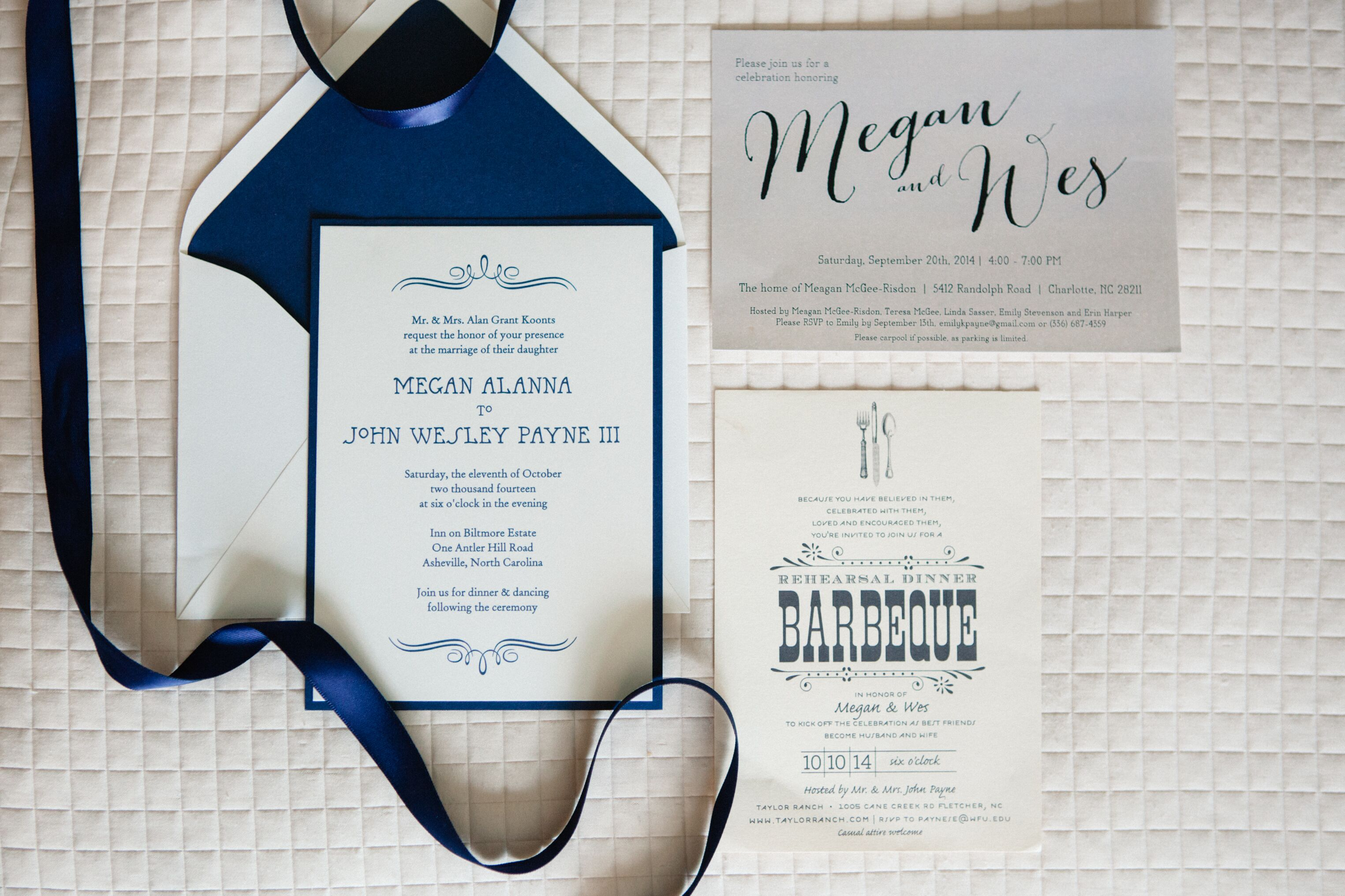 Navy and Ivory Classic Invitation Suite