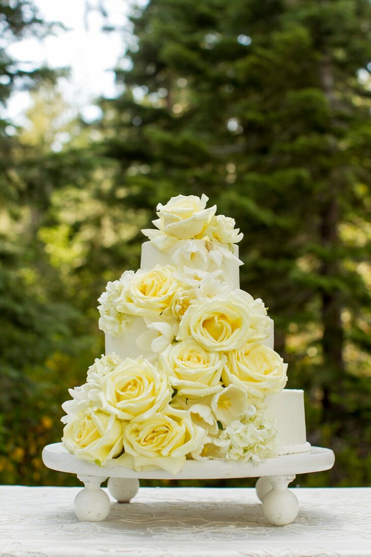 Three-Tier Floral Cake