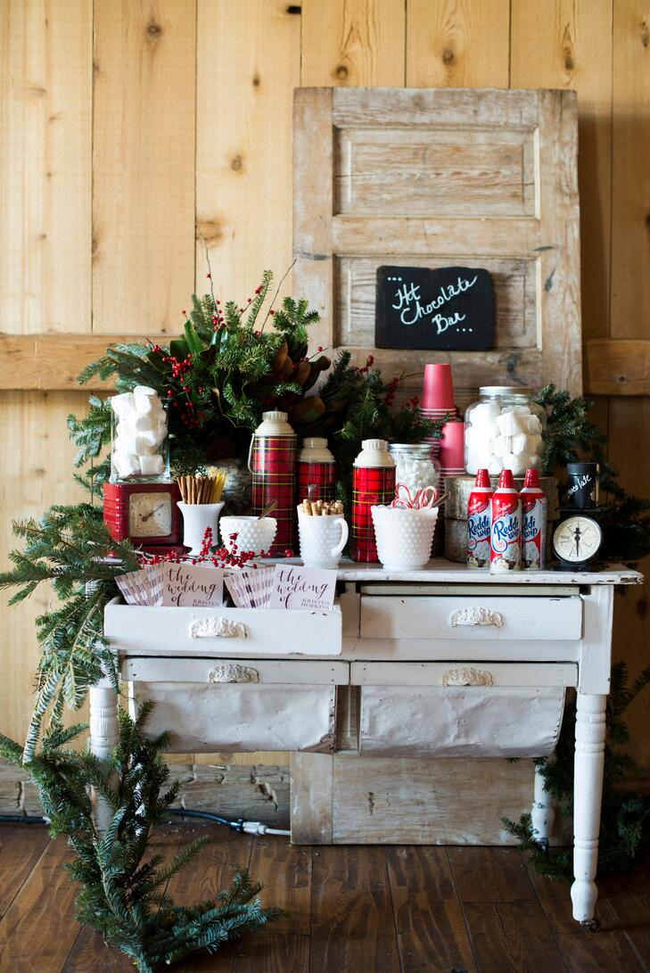 rustic hot chocolate bar