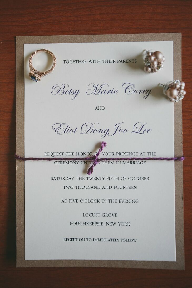 Wedding invitations with handwritten calligraphy