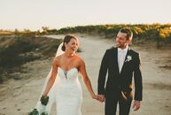 rn                    Astrid Stewart (29 and an event coordinator) wed Sean Murphy (34 and in sales) in a romantic, classic affair at Mount Palomar Wi