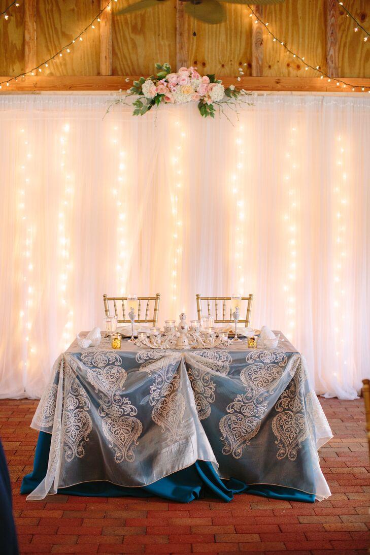 Rustic Elegant Wedding Reception Sweetheart Table
