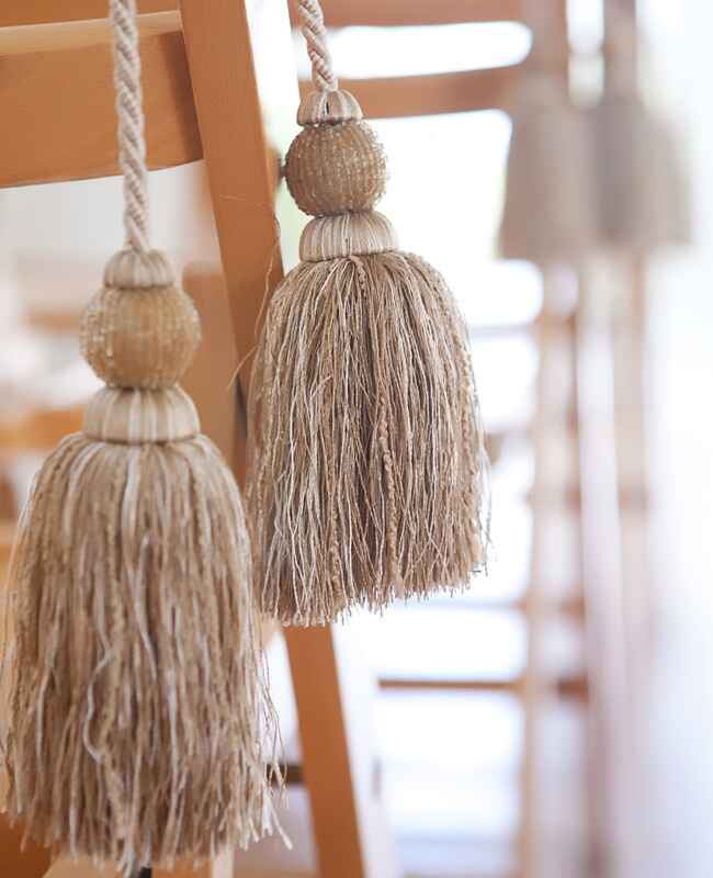 DIY tassel wedding ideas | Vue Photography | blog.theknot.com
