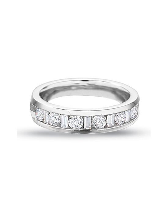 Zales 1 CT. T.W. Round and Baguette Diamond Channel Band in 14K White Gold  17713926 Wedding Ring photo