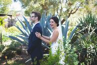 Molly Tormey and Brandon Gruzen whisked their friends and family off to the quaint town of Los Alamos, California, for a bright rustic bash with a lai