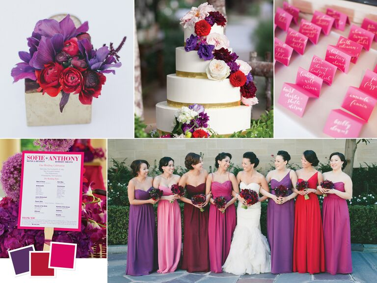 Wedding color palettes we love jewel toned wedding color palette junglespirit