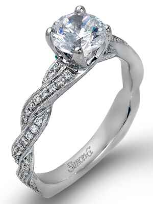 Simon G braided engagement ring