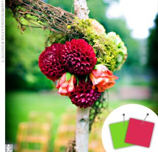 Wedding Color Combo Pink Lime Green