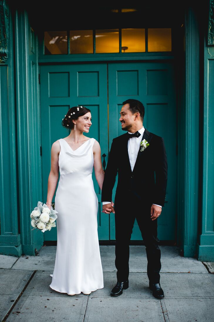 Ivory Wedding Dress, Classic Black Tuxedo